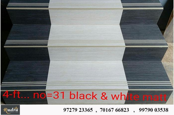 black white matt step riser