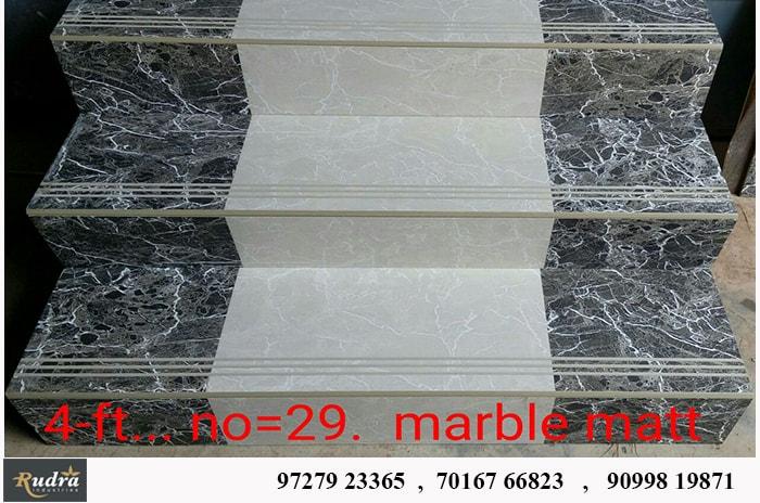 Marble Matt Step and Riser